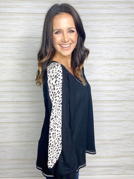 Layla Animal Print Sleeve Top