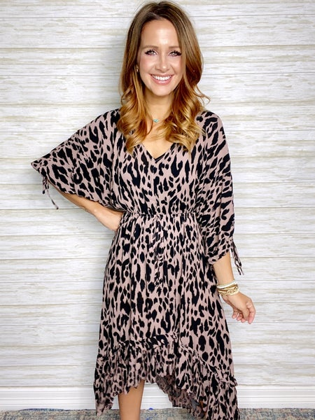 FINAL SALE - Eden Animal Print High Low Dress