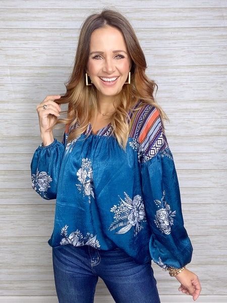 FINAL SALE - Gianna Floral Babydoll Top