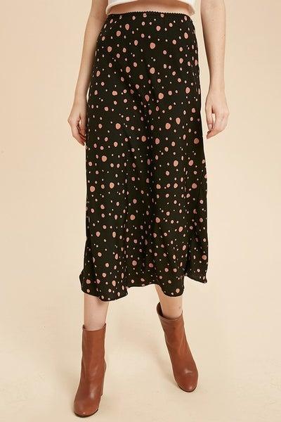FINAL SALE - Briella Spotted Midi Skirt