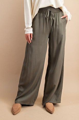 FINAL SALE - Sadie Smocked Wide Leg Pants