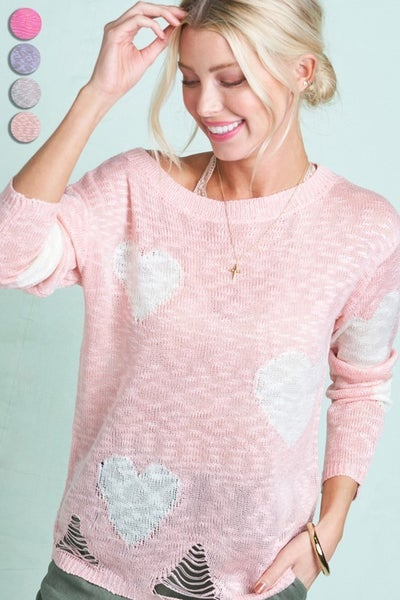 Cupid Distressed Sweater