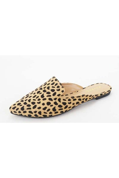 FINAL SALE - Natalie Cheetah Print Mules