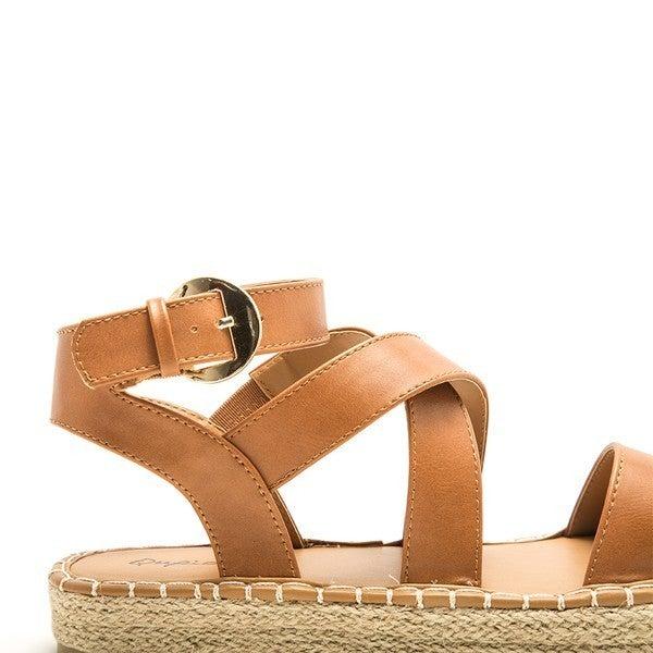 Eden Strappy Sandals - Beige