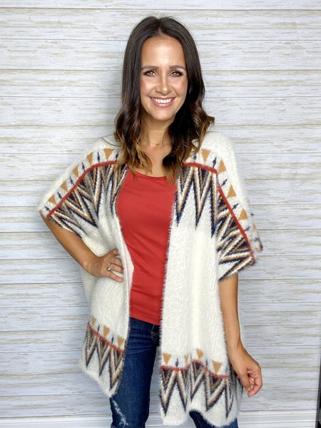 FINAL SALE - Camila Mohair Aztec Cardigan