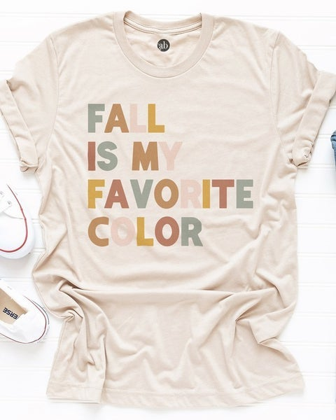 FINAL SALE - Fall is My Favorite Color Tee
