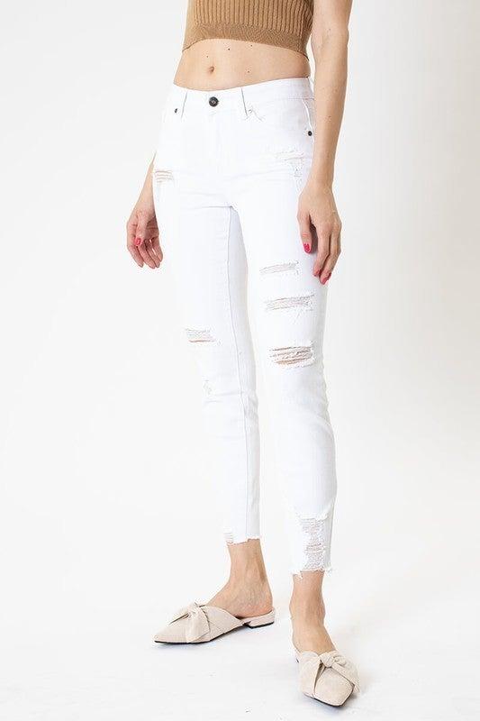 Wynter White Distressed Denim Skinnies