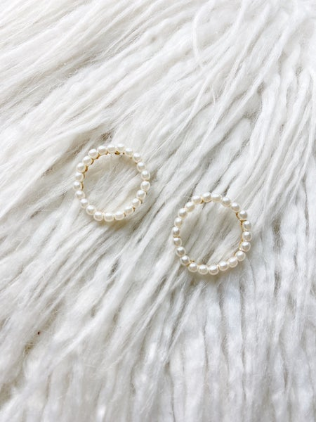 Chico Pearl Open Circle Studs