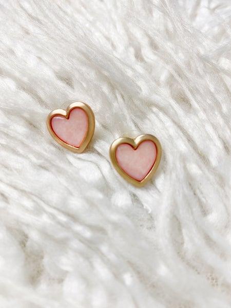 Sarasota Heart Studs - Pink