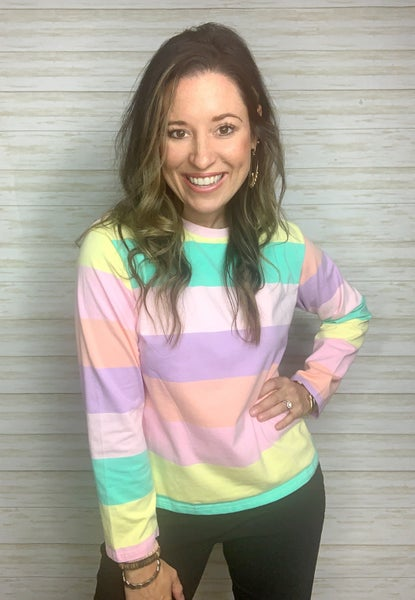 Morgan Multicolor Stripe Top