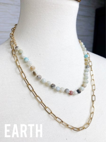 Prosper Paper Clip Layered Necklace