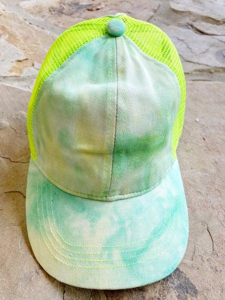 FINAL SALE - The Texhoma Tie Dye Cap - Green