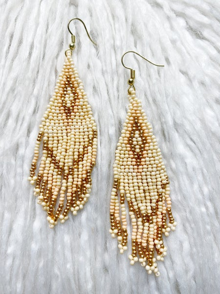 Napa Fringe Beaded Earrings
