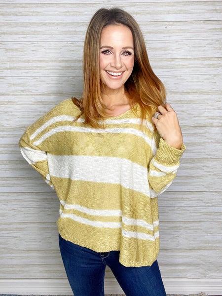 Evie Striped Lightweight Sweater