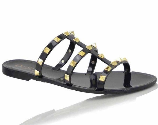 Kailani Studded Jelly Slides