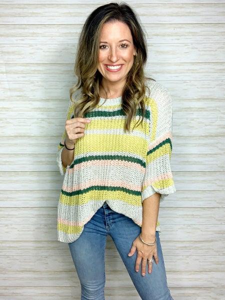 FINAL SALE - Lucy Stripe Knit Sweater