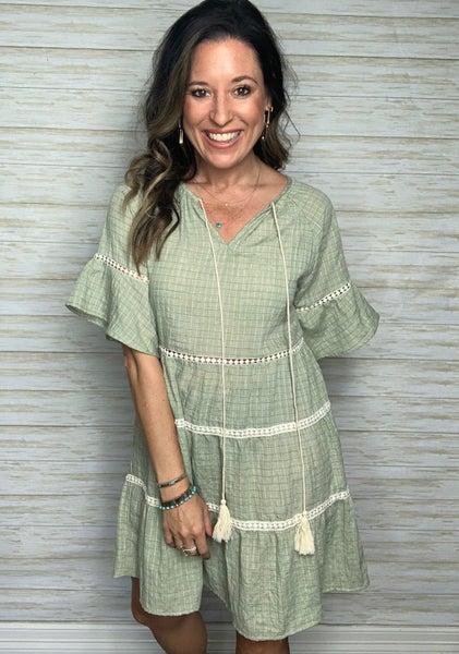 Bexley Sage Tassel Dress