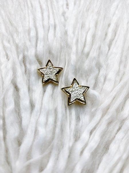 Druzy Star Studs - Gold