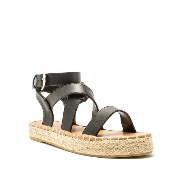 Eden Strappy Sandals - Black