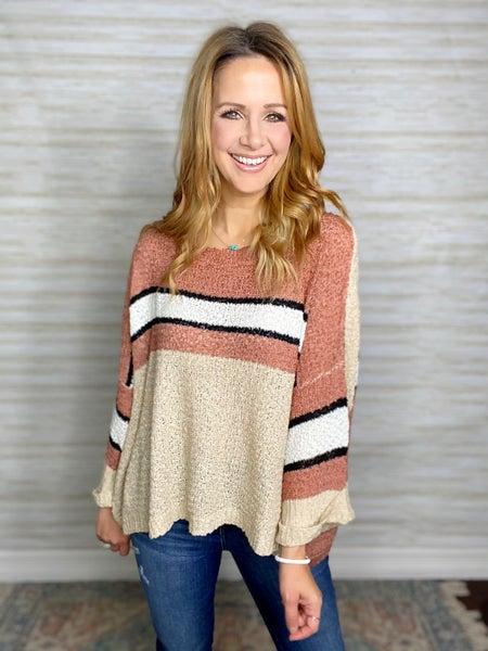 Samandra Colorblock Lightweight Sweater