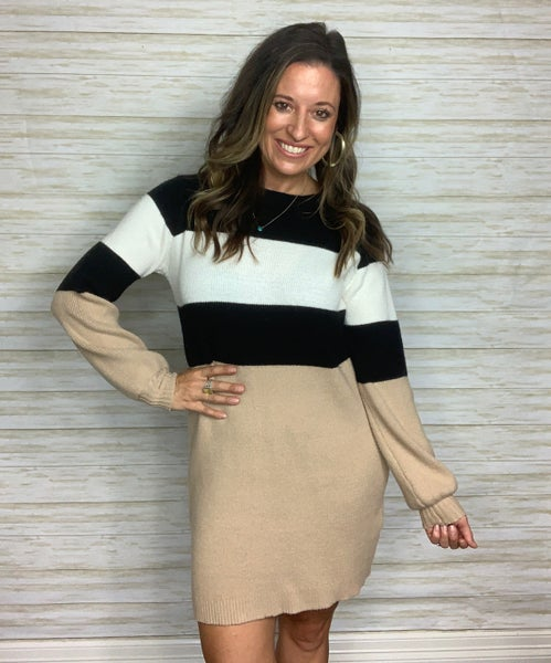 FINAL SALE - Olivia Long Sleeve Sweater Dress