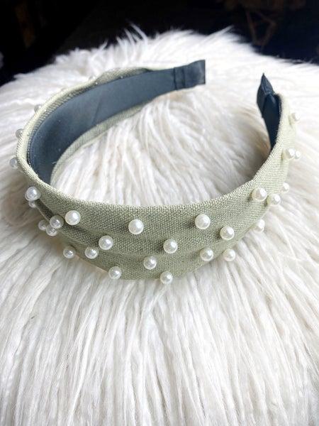 Pearl Headband - Sage