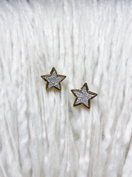 Druzy Star Studs - Silver