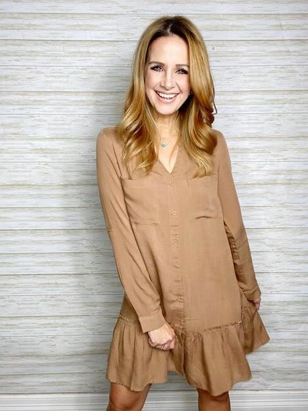 Natasha Linen Ruffle Dress