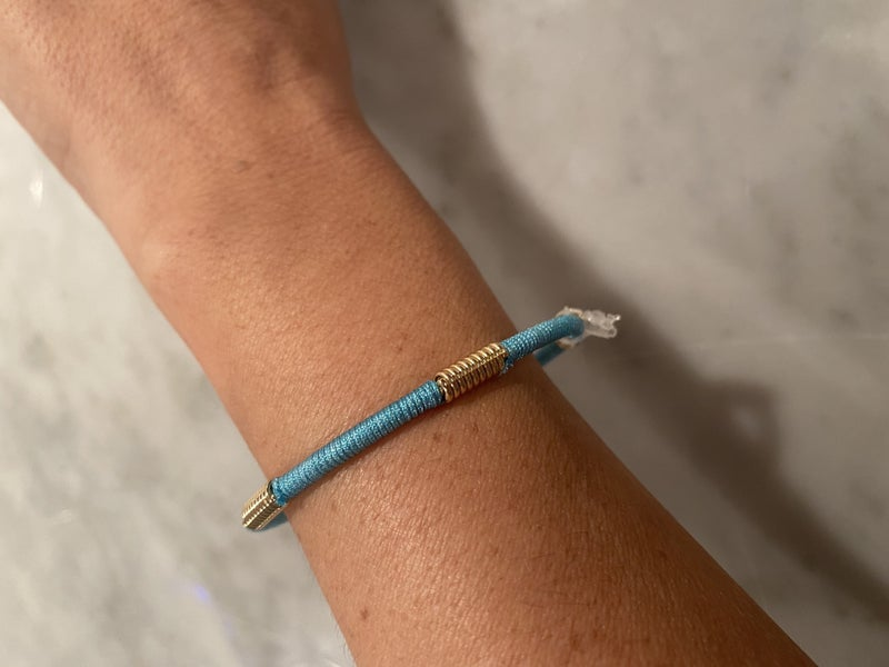 Embroidery Wrapped Cuff with Gold Detail