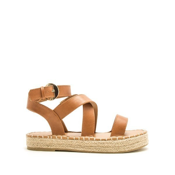 Eden Strappy Sandals - Beige