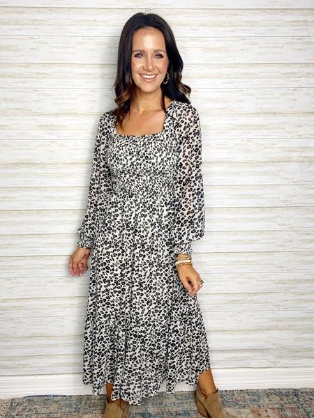 Madison Smocked Midi Dress