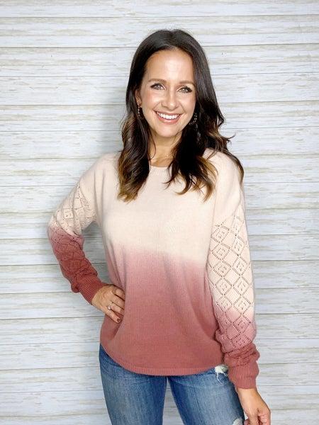 FINAL SALE - Talia Ombre Sweater