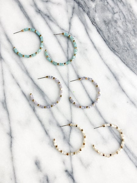 The Larimer Crystal Hoops