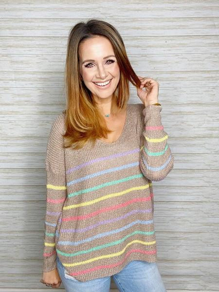 Catherine Stripe Lightweight Sweater