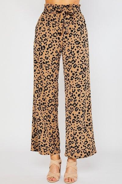 Merilee Wide Leg Leopard Pants
