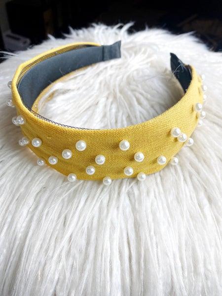 Pearl Headband - Mustard