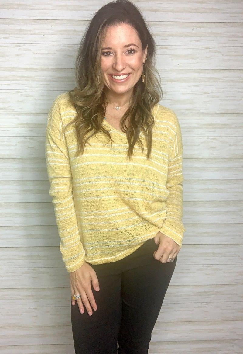 FINAL SALE - Angelina Striped Sweater