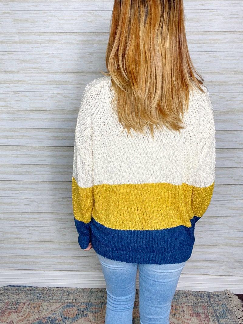 FINAL SALE - Cleo Colorblock Sweater