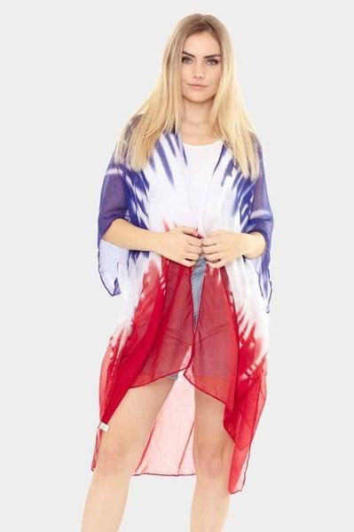 Patriotic Ombre Kimono
