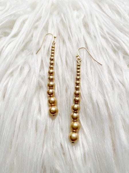 Marion Tiered Ball Drop Earrings