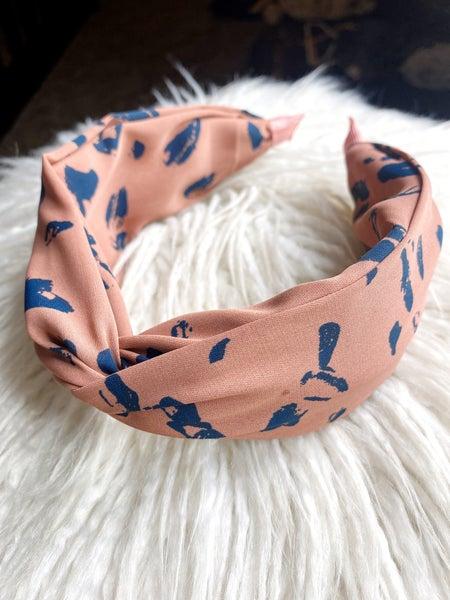 Knotted Scarf Headband - Mocha