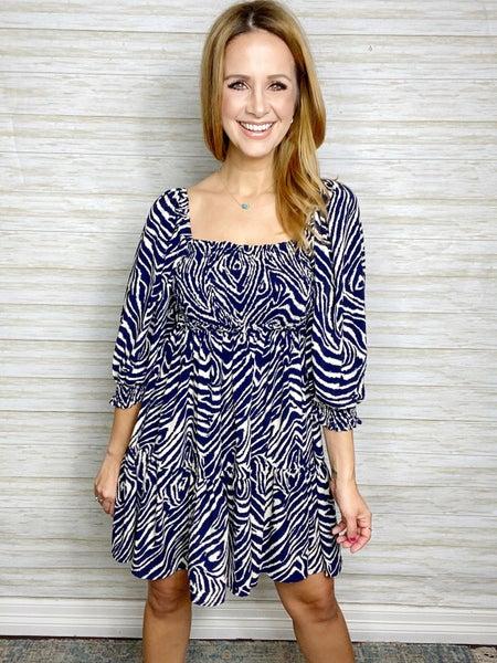 FINAL SALE - Alayna Zebra Print Dress