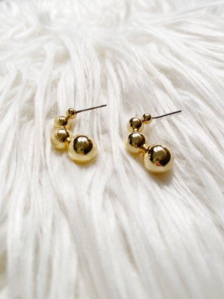 Valdese Mini Crescent Ball Earrings