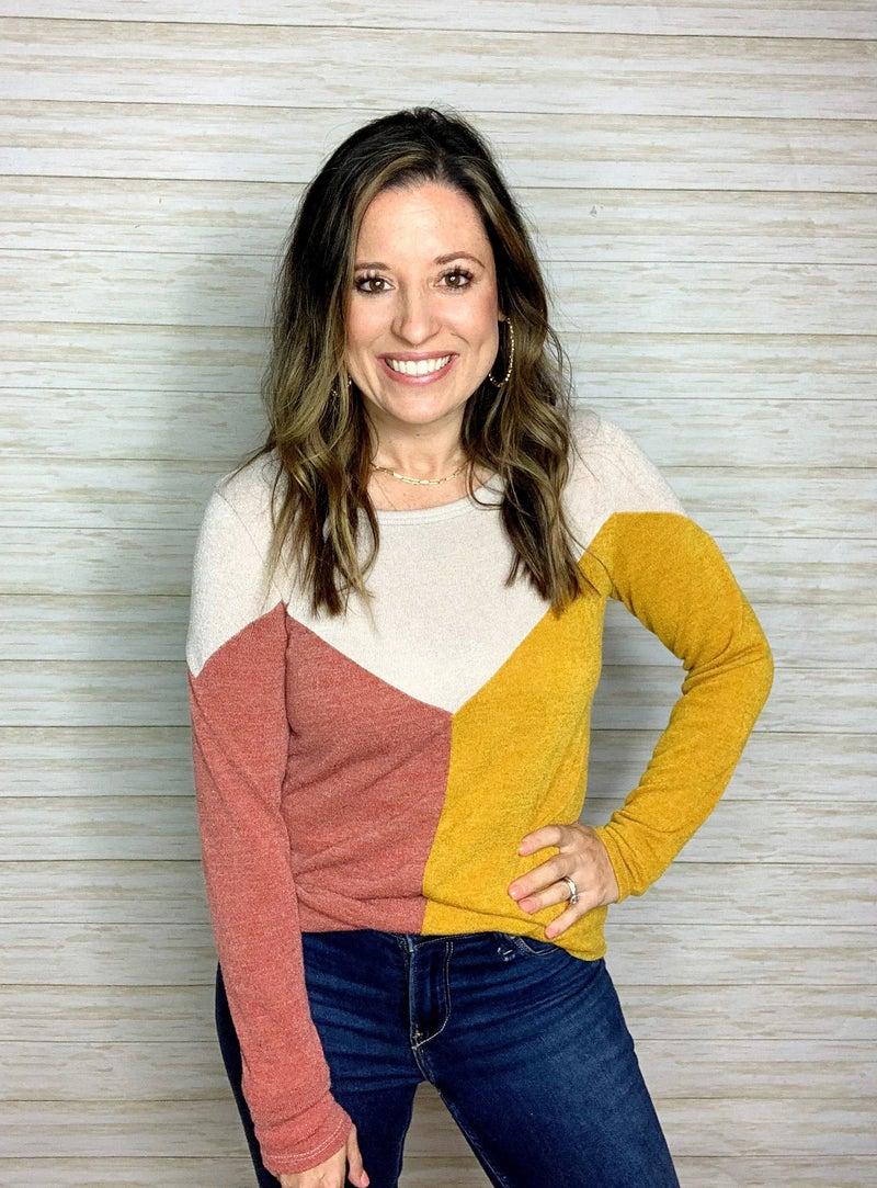 FINAL SALE - Alani Colorblock Pullover