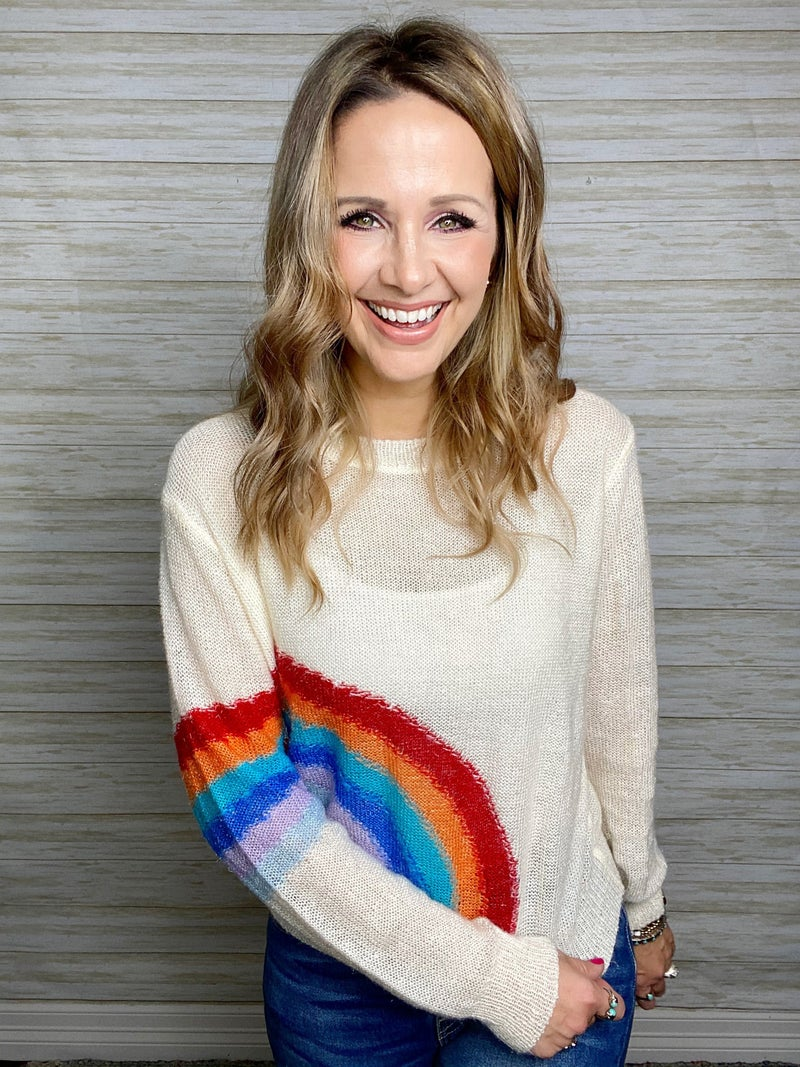 FINAL SALE - Rory Rainbow Sweater