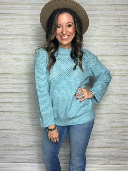 FINAL SALE - Bella Baby Blue Sweater