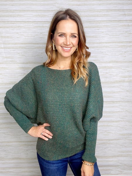 FINAL SALE - Liffey Ribbed Sweater - LARGE ONLY