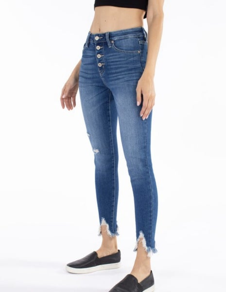 FINAL SALE - Camden High Rise Button Fly Skinny Jeans
