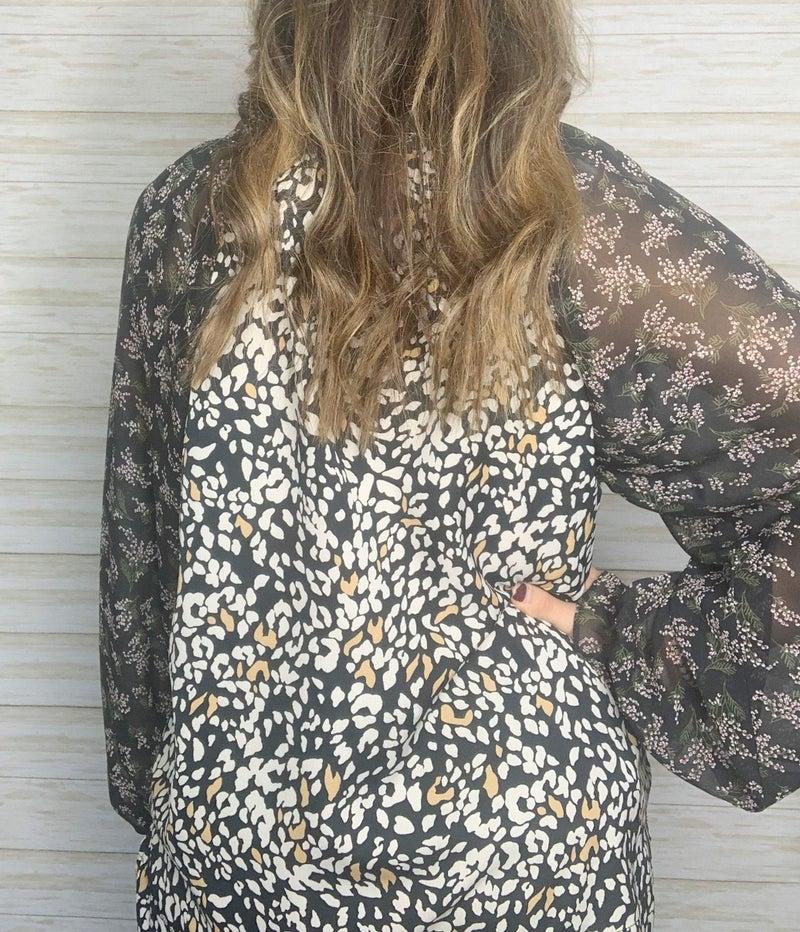 FINAL SALE - Natalia Mandarin Collar Blouse