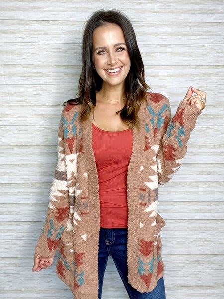 FINAL SALE - Sylvia Aztec Cardigan - SMALL ONLY